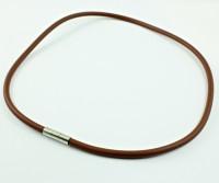 Kauczuk 4mm z wygodnym zapięciem, brązowy-promocja