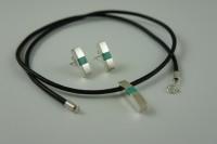 Biżuteria srebrna z turkusem + bransoletka gratis