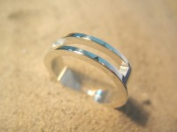 Obrączka srebrna - nowość