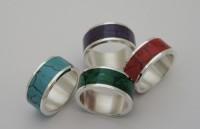 Kolorowe srebrne obrączki - najnowszy wzór