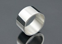 Obrączka srebrna 12mm